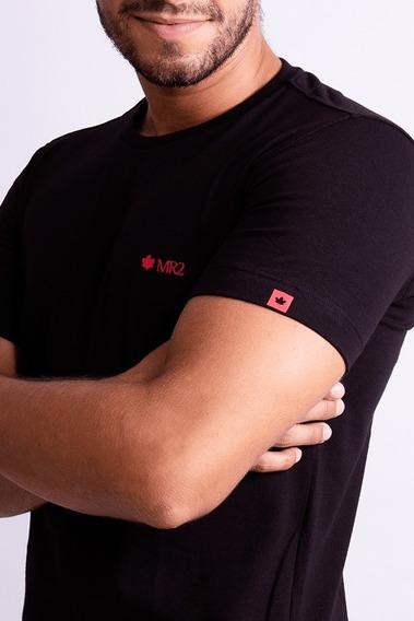 Camisa Camiseta Mr2 Básica Lisa Slim Tecido Algodão Original