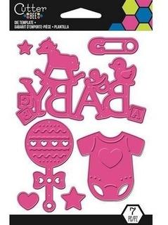 Scrapbook Suaje Corte Bebe Nacimiento Baby Shower Sizzix