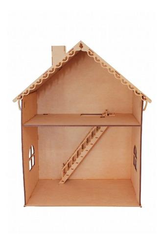 Casa Muñecas Barbie 2 Pisos Armado Fácil Mdf 5mm Fibrofácil