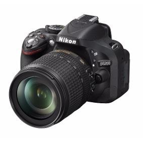 Nikon D5200 24.1mpx. Com Objetiva Af-s Nikkor 18-105mm