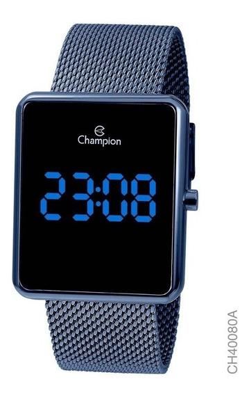 Relógio Digital Feminino Champion Azul Ch40080a Quadrado