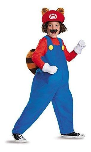 Mario Raccoon Deluxe Super Mario Bros. Traje De Nintendo, Gr