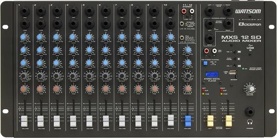 Ciclotron Mesa De Som Analógica Mxs12-sd Audio Mizer