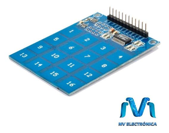 Teclado Matricial Touch Capacitivo 4x4 Ttp229 Arduino Mv