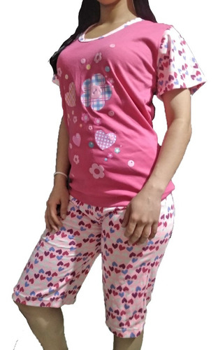 Pijama Manga Pesquera Estampada