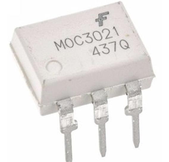 Moc3021 Optoacoplador Optodiac Salida Driver X 10 Unidades