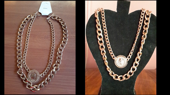 Hermoso Collar Dorado..envio Gratis Dhl