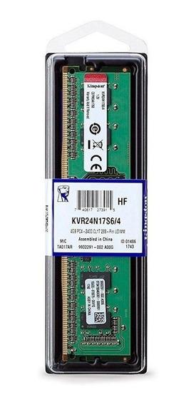 Memoria Ram Kingston 4gb Ddr4 Pc4-2400 Cl17 288