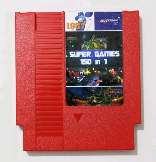 Cartucho 150 Jogos Em 1 Nes Mario Megaman Frete Gratis