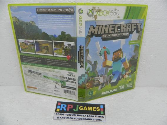 Minecraft Original Midia Fisica C/ Caixa P/ Xbox 360 Loja Rj