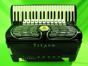Acordeon 120 Baixos Titano Virtuoso Professional - 4ª/5ª Voz