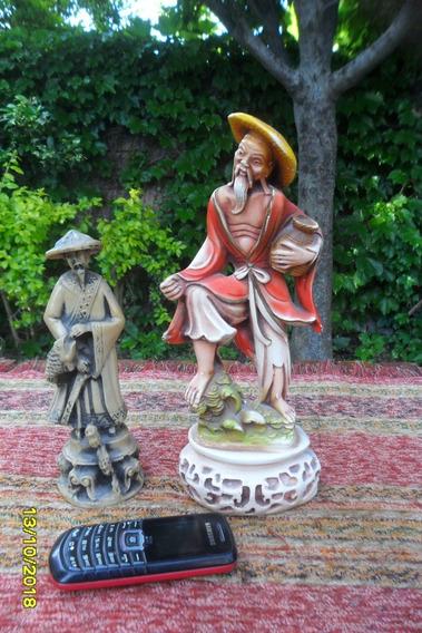 Lote Lindas Figuras Oriental Chino Japones Cerámica Resina
