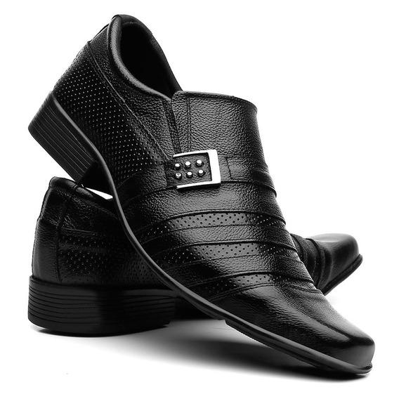 Sapato Social Couro Palmilha Antibactericida Macia Dia Dia