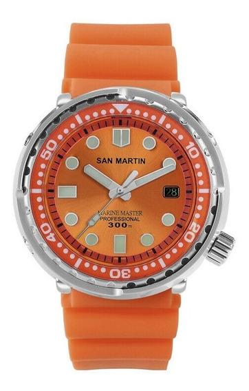 San Martin Marinemaster Tuna Mergulho 300m Maq. Seiko Nh35a