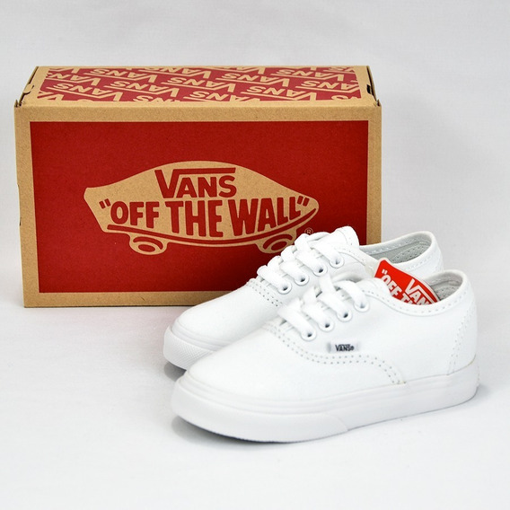 Vans Authentic Tenis Bebe Blancos 100% Originales
