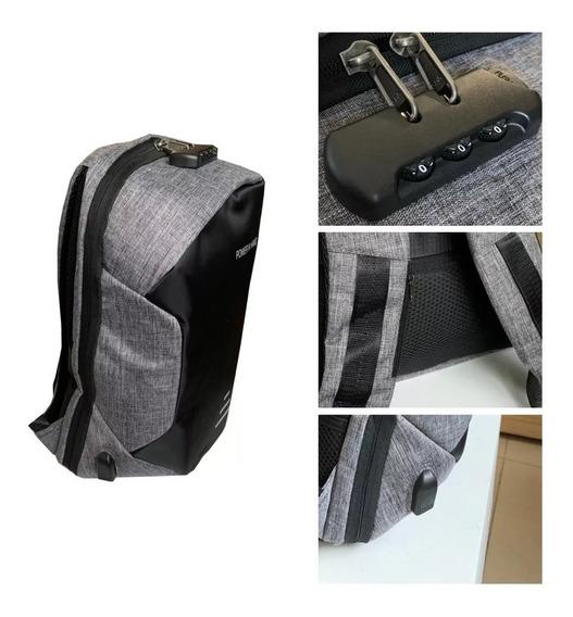 Mochila Antirrobo Impermeable Porta Notebook Clave Numerica