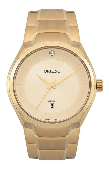 Relógio Orient Unissex Dourado A Prova D
