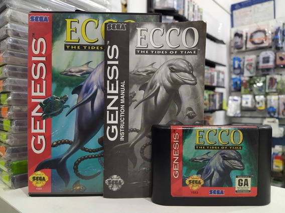 Ecco The Tides Of Time Original America Completa Mega Drive