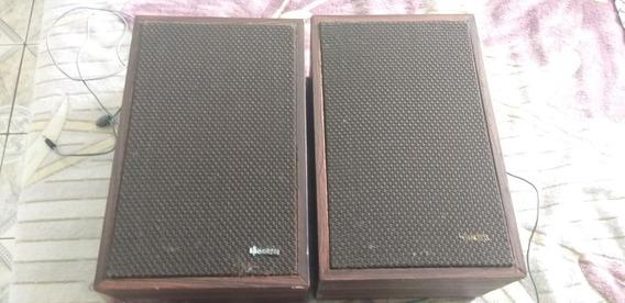 Par Caixas De Som Originais Sonata Radiola Vitrola Deck Lp