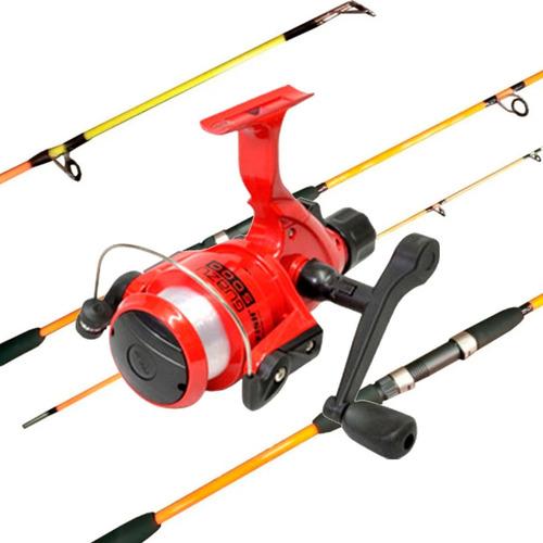 Combo Pesca Variada Profesional Caña 2tramos Reel Nylon C