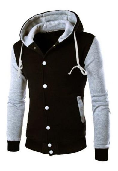 Moletom Masculino De Frio, Blusa Moletom Masculina Com Capuz Cores Diversas/jaqueta Moletom Masculina Preta Lisa College