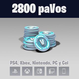 Fornite 2800 Pavos - Cualquier Pais