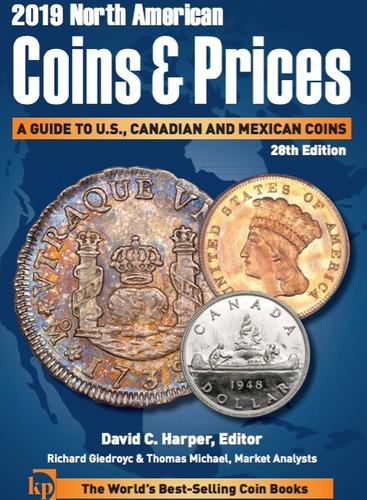 Imagen 1 de 5 de Moneda Catálogo 2019 North American Coins & Price Pdf