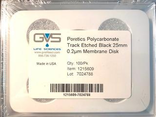 Discos Membrana Poretics Pcte 0.2µm 25mm, 100/pk, 1215609