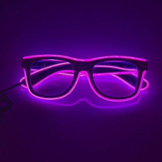 Lentes Gafas Neon Luz Fiesta Cotillon Fiesta Electronica Led