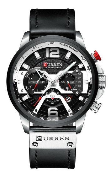 Relógio Curren 8355 Branco A Prova D