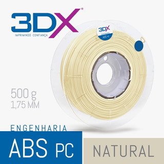 Filamento Abs Pc 1,75 Mm | 500g (policarbonato) Natural 3dx