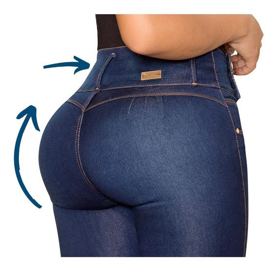 Jeans Jean Mujer Elastizados Tiro Alto Chupin Dama Calce Perfecto Premium Talles Tachas