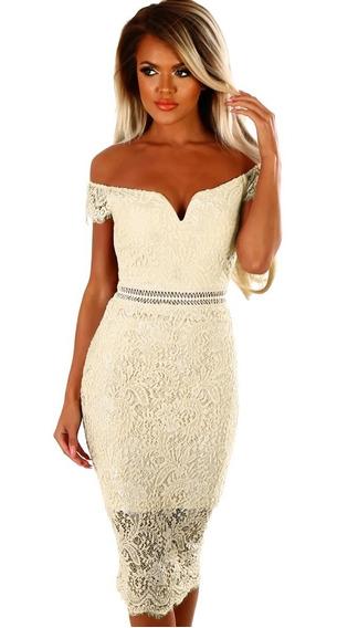 Vestido Posada Navidad Blanco Elegante Hermoso Año Nuevo