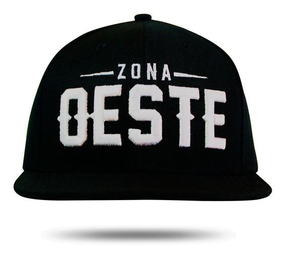 Boné Preto Zona Oeste Aba Reta Snapback Pronta Entrega Black
