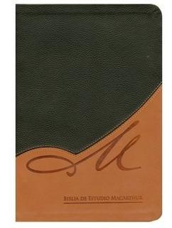 Biblia De Estudio Macarthur/rvr/piel/negro-marron