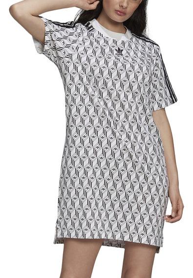 Vestido adidas Originals Moda Tee Dress Mujer Bl/ng