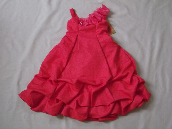 Vestido Infantil Festa Formatura Vermelho Flores