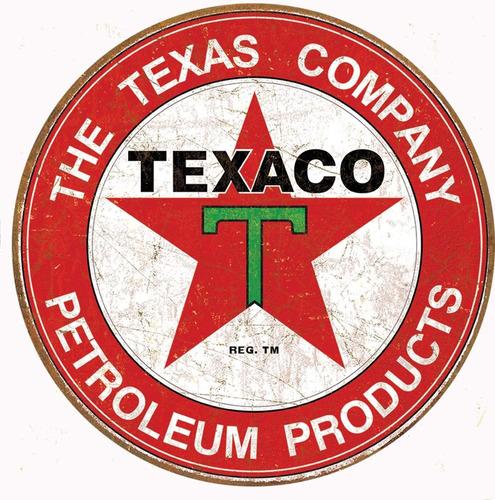 Imagen 1 de 2 de Texaco Aceite De Motor Weathered Tin Sign 13 X 16 En