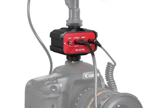 Central Adaptador P/ Usar Dois Microfones Saramonic Sr-ax100