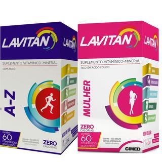 Kit 3 Caixas Lavitan Mulher + 3 Caixas Lavitan Az Homem 60cp