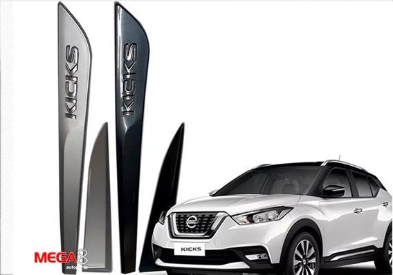 Friso Lateral Kicks 2016 2020 Nissan Com Cromo Cor = Carro