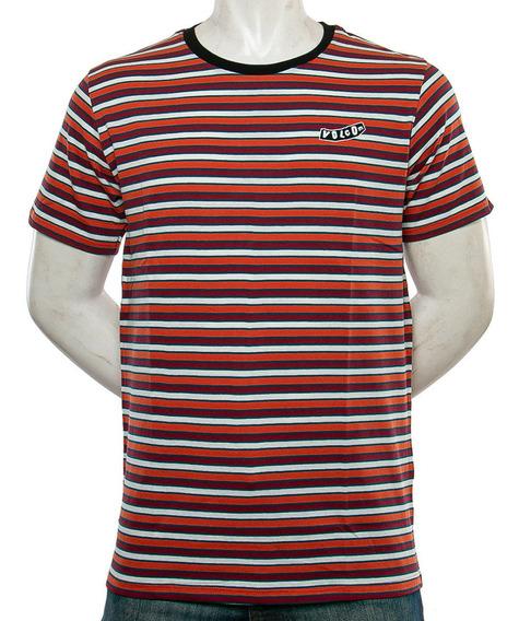 Remera Retro Stripes Volcom Fluid Tienda Oficial