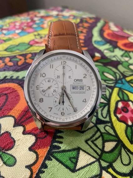 Relógio Suiço Oris Xxl 7515 Cronógrafo Revisado, Ñ Omega
