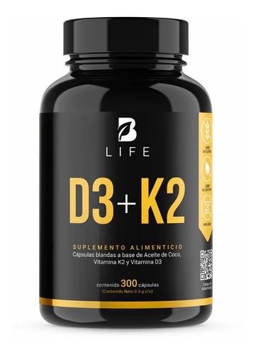 Imagen 1 de 5 de Vitamina D3 400 Ui + K2 300 Cápsulas B Life