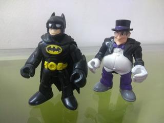 Muñecos Batman Y El Pinguino. Fisher Price Exc Estado