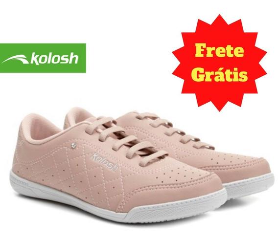 Tenis Casual Feminino Strass Blush Kolosh C1301