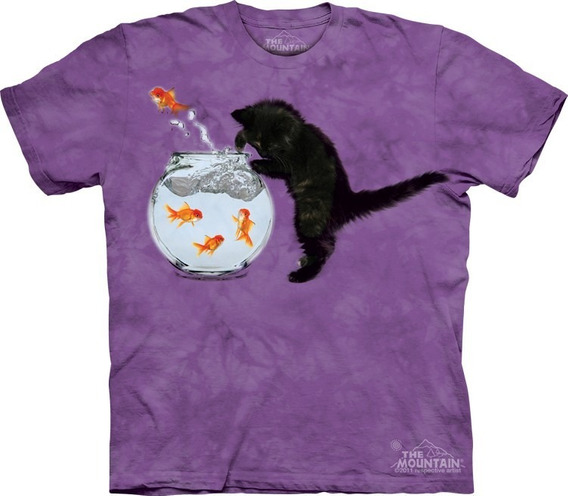 Playera 4d - Unisex Infantiles - 8175 Fishing Kitten.