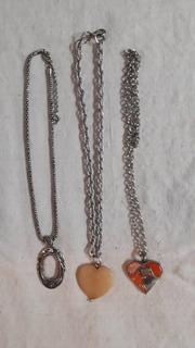 Delicadas Cadenas Con Dijes Variados De Piedras Y Cristales