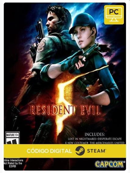Resident Evil 5 Re5 Pc Steam Key Envio Imediato Buy Comprar