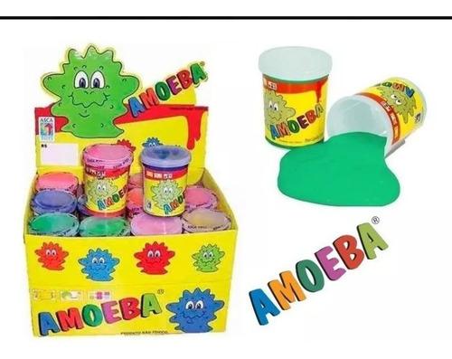 6 Amoeba Original Cores Sortidas Geleia Slime Massinha 110g